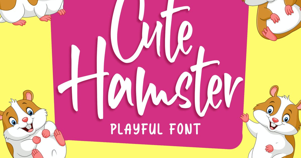 Download Cute Hamster - Playful Font by Blankids