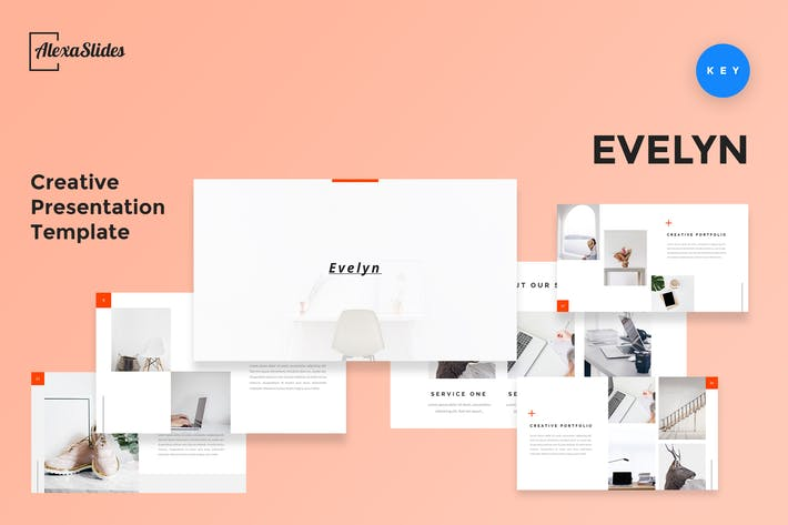 Thumbnail for Evelyn - Creative Keynote Presentation Template