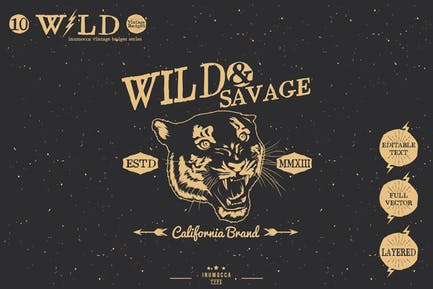 Wild Vintage Badges