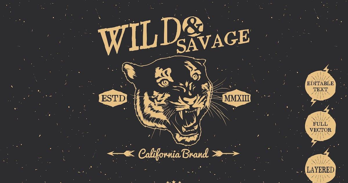 Download Wild Vintage Badges by inumocca