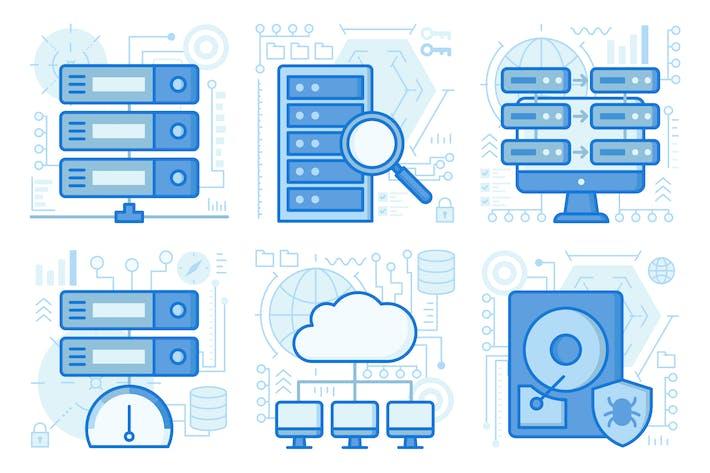 Thumbnail for UX-Illustrationen zur Datenspeicherung