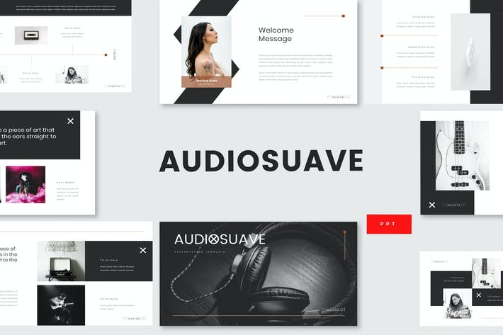 Thumbnail for Audiosuave - Music Powerpoint Template