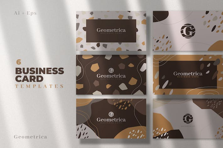 Thumbnail for 6 Abstract Business Card Templates