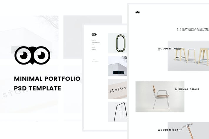 Thumbnail for Owlfolio - Creative Portfolio PSD Template