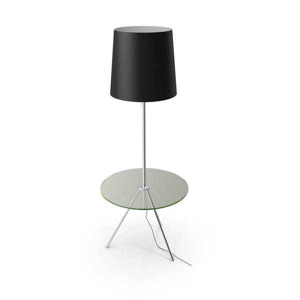 Floor Lamp with Table