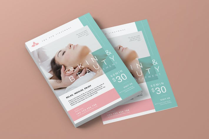 Cover Image For Beauty Spa Promotion AI and PSD Flyer Vol.4