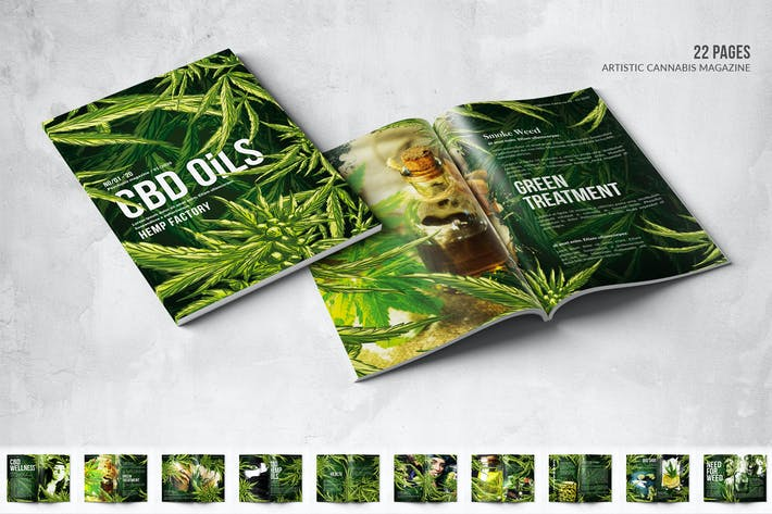 Thumbnail for CBD Hemp Oils Magazine - A4 & US Letter - 22 pgs