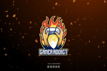 Gamer Addict Controller Logo