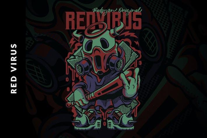 Thumbnail for Red Virus Illustration