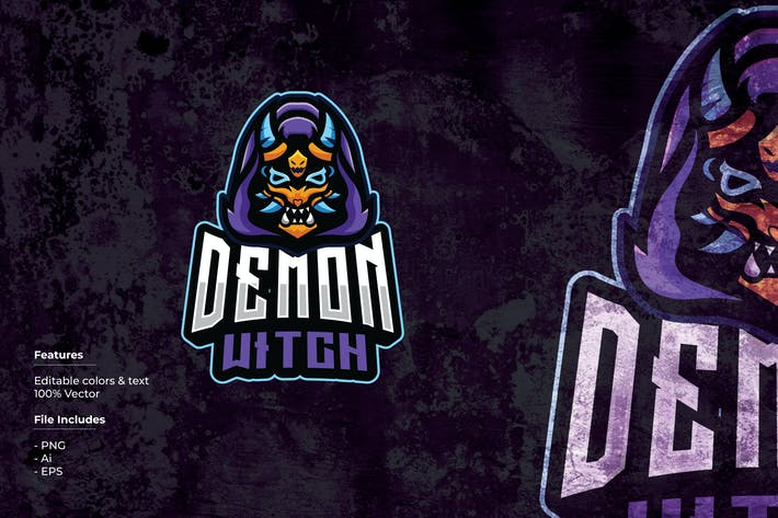 Thumbnail for Demon Witch Sport and Esport Logo Template