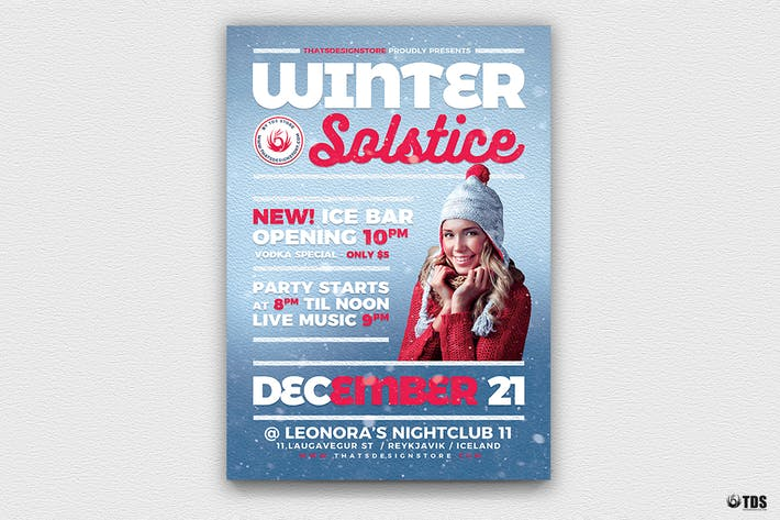 Thumbnail for Winter Solstice Flyer Template V3