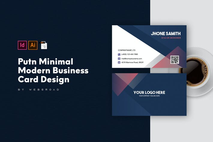 Thumbnail for Putn Minimal Modern Business Card Design