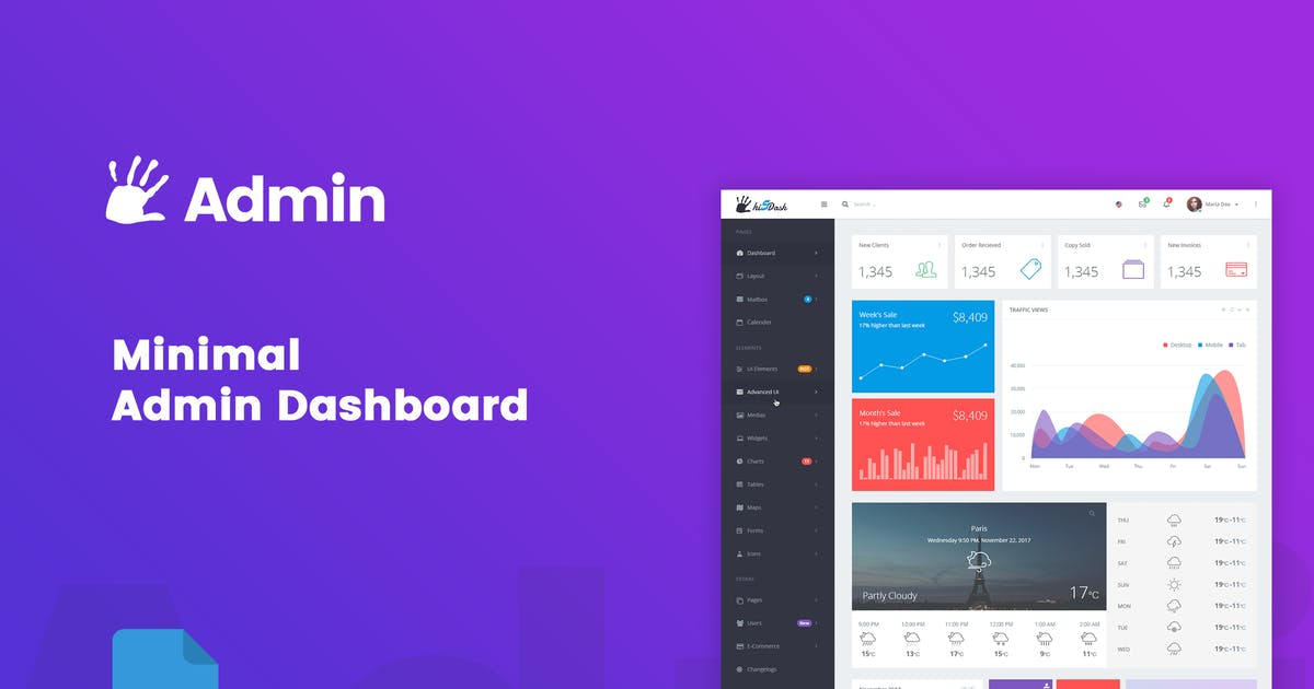 Download highFive Admin - Dashboard by bigpsfan