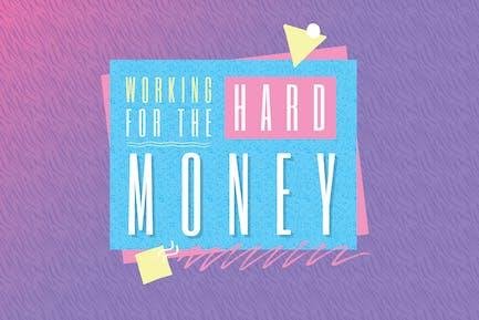 Motivational 80s Logo Template