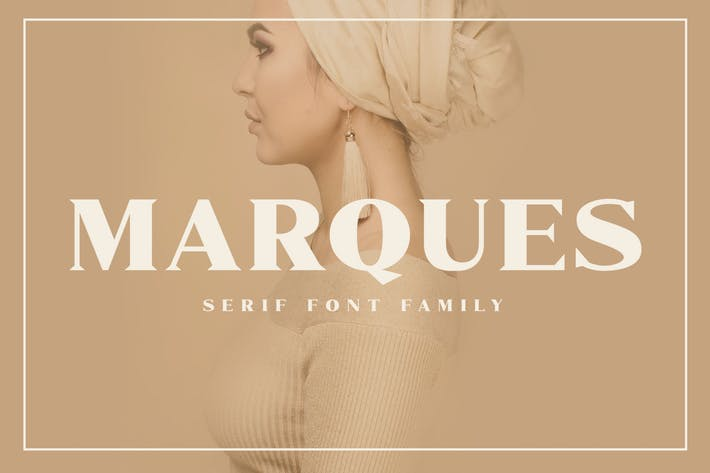 Thumbnail for Marques - Modern Serif Font Family