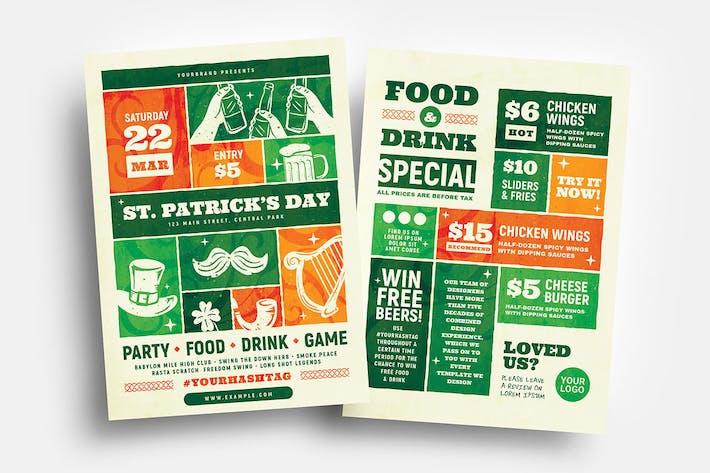 ProDépliants et menu de la Saint-Patrick
