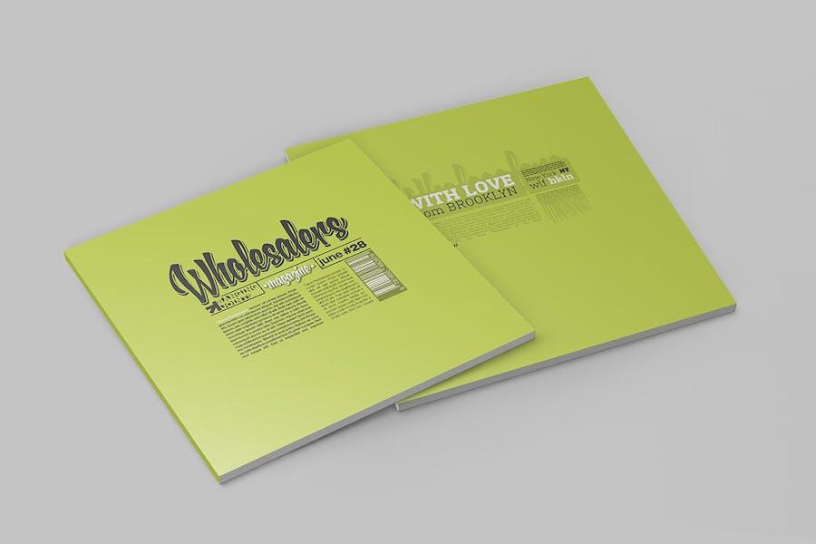 Square Magazine Katalog Mockup