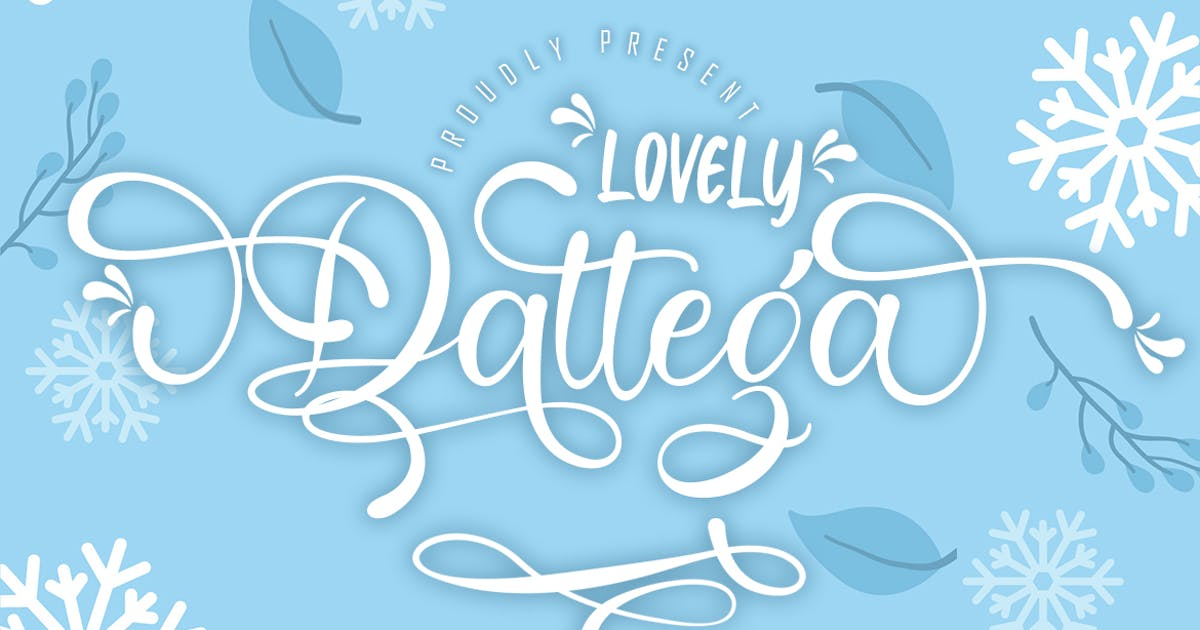 Download Lovely Dattega - Font duo by Skiiller_studio