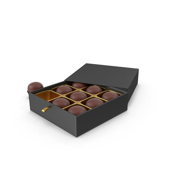 Chocolate Candies with Black Gift Box