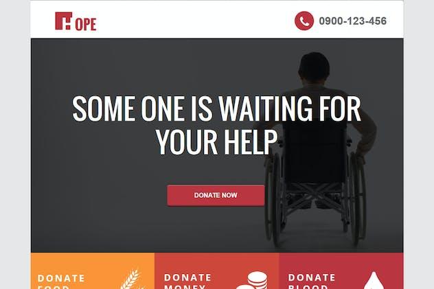 Hope - Non Profit Unbounce Landing page - product preview 0