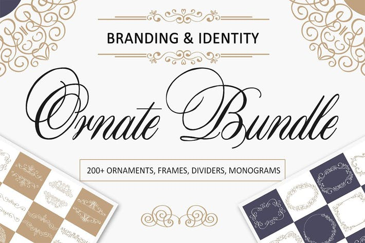Thumbnail for Ornate Bundle. Branding and Logos