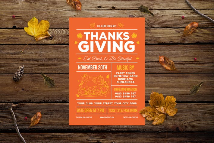 Thumbnail for Thanksgiving Flyer