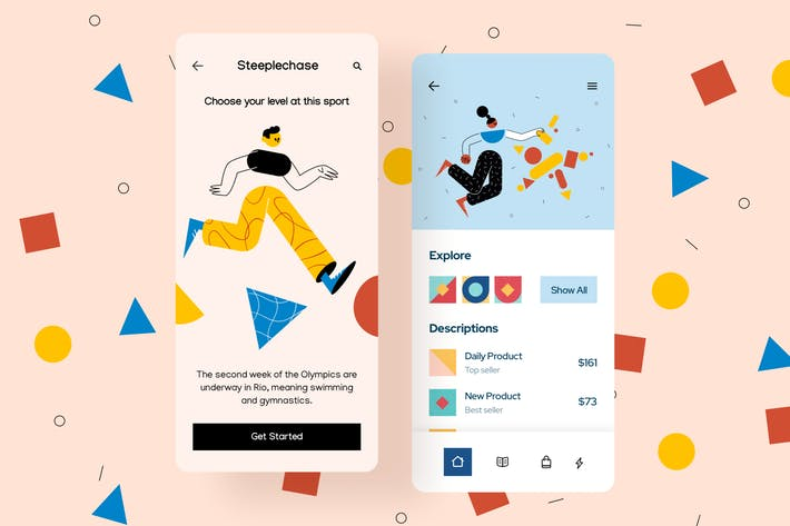 Thumbnail for Get Started Mobile Interface Illustrations