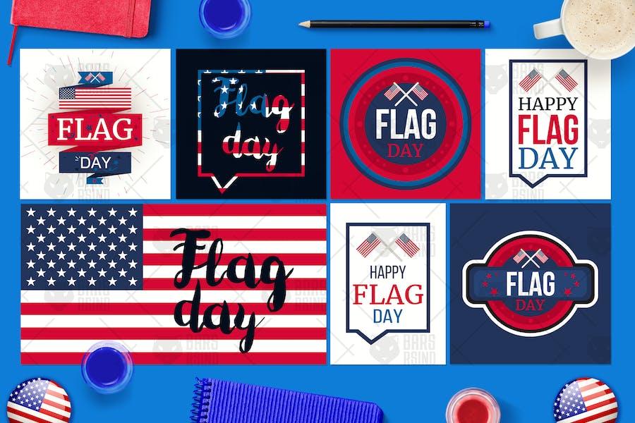 Flaggen-Tages-Banner