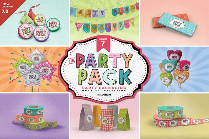 Thumbnail for Party Packaging Mockups Volume7