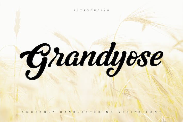 Thumbnail for Grandyose | Smoothly Handlettering Script Font