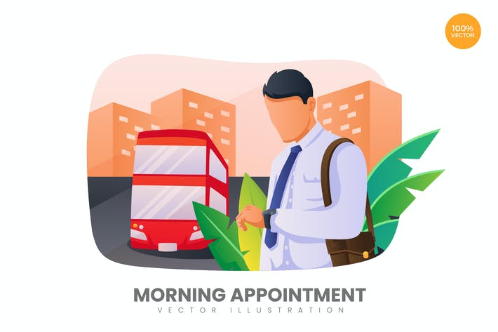 Thumbnail for Morning Appointment Vector Illustration Concept