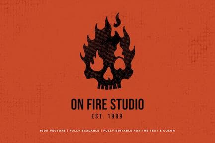 Skull On Fire Logo - KNA