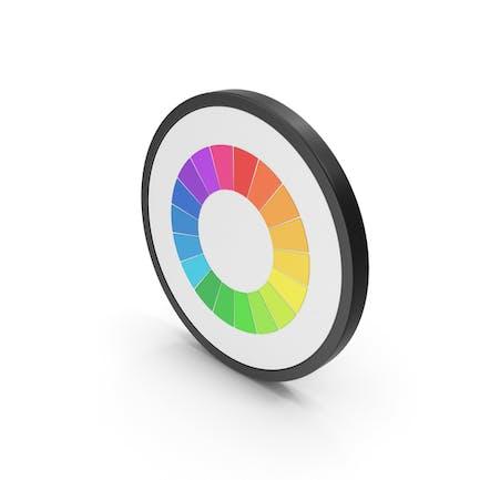 Icon Pie Chart Rainbow