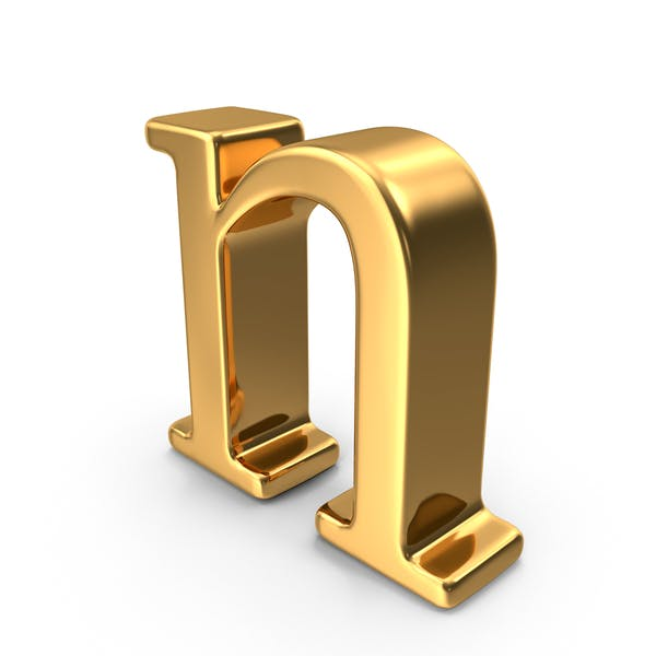 Gold Small Letter N