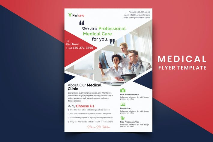 Thumbnail for Medical Flyer Template-01