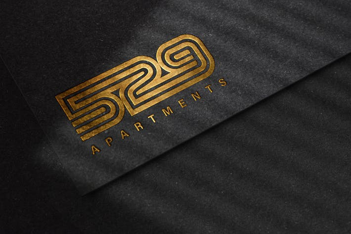 Thumbnail for Luxury Embossed Logo Mockup on Black Paper Texture
