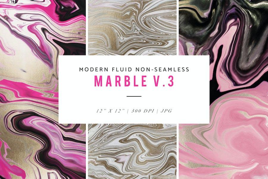 Modern Fluid Non-Seamless Marble V.3 Patterns