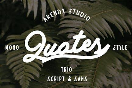 Citations - Script And Sans Font