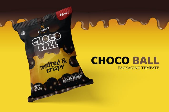 Thumbnail for Choco Ball Snack Packaging Template