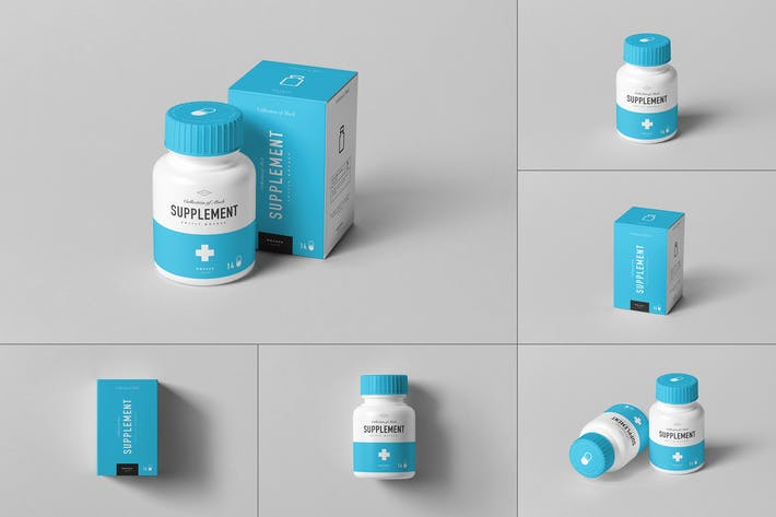 Thumbnail for Supplement Jar & Box Mock-up 8