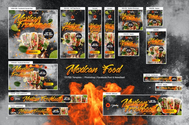 Mexican Food Banners Ad