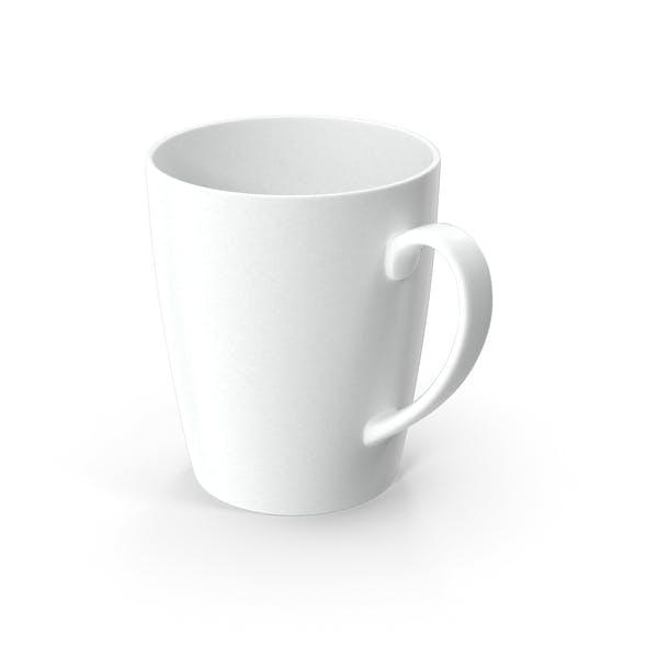 Taza de cerámica blanca de estilo clásico
