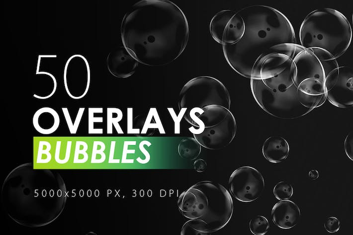 Cover Image For 50 Bubble Overlays