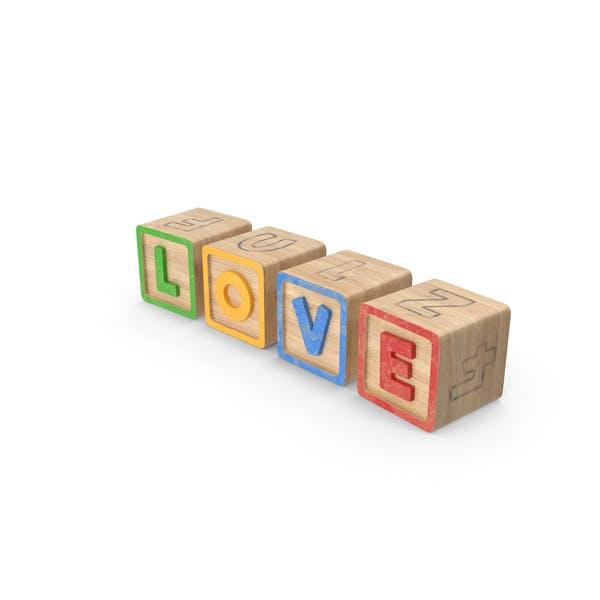 Алфавит Блоки Любовь