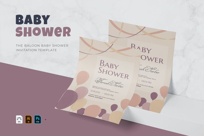Thumbnail for Baloon | Baby Shower Invitation