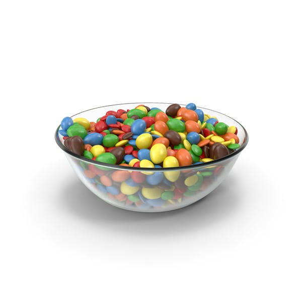 Thumbnail for Bowl with Mixed Color Coated Chocolate Candy