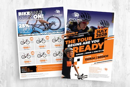 Cycling Shop Templates Pack for AI & PSD