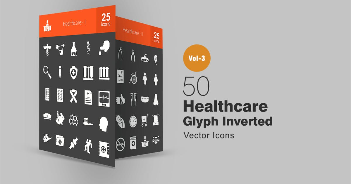 Download 50 Healthcare Glyph Inverted Icons by IconBunny