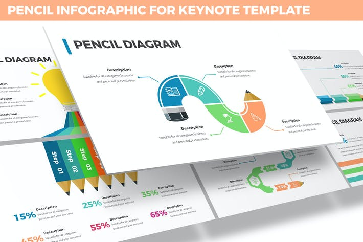 Thumbnail for Pencil Infographic for Keynote Template