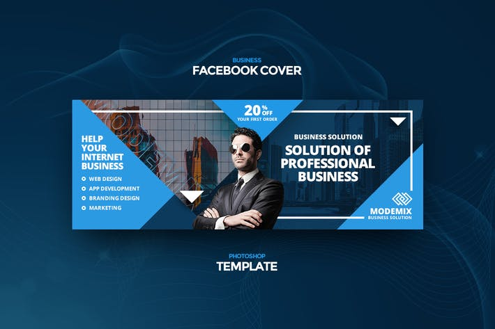 Thumbnail for Modemix Business Facebook Cover Template
